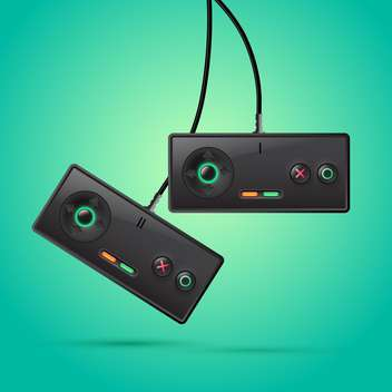 game-pads with controllers for video games - Free vector #128980