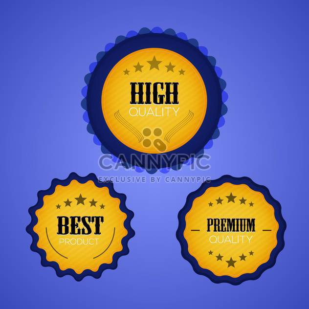 best premium quality vector labels set - Free vector #129000