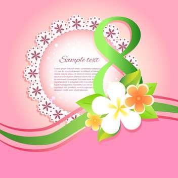 happy women's day greeting card - vector gratuit #129090