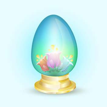 vector floral easter holiday egg - vector gratuit #129120