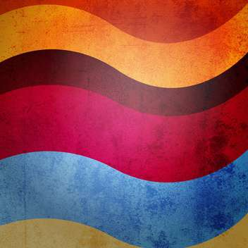 colorful vintage wavy background - vector #129160 gratis