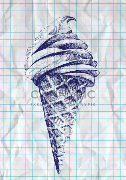 doodle ice cream cone illustration - Free vector #129170