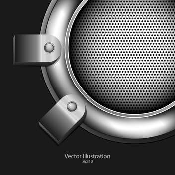 abstract loudspeaker metallic background - бесплатный vector #129190