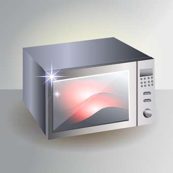 modern vector microwave stove - vector #129230 gratis