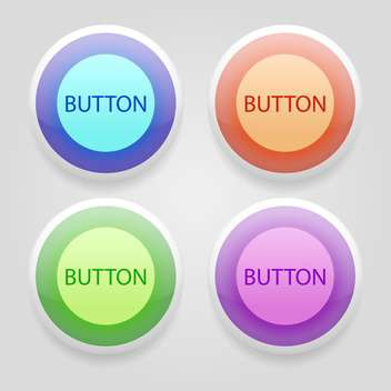 set of colorful 3d buttons - vector #129240 gratis