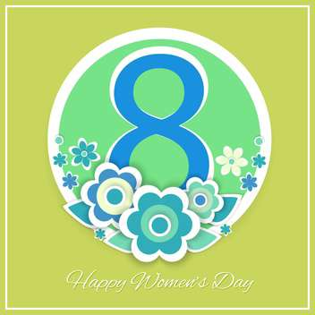 women's day vector greeting card - vector gratuit #129250