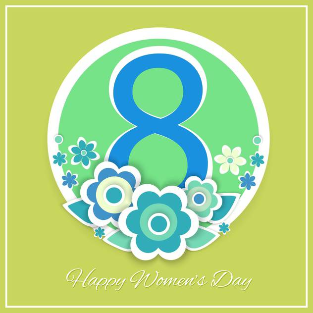 women's day vector greeting card - Free vector #129250