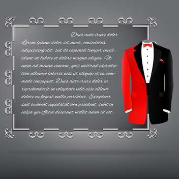 vector tuxedo invitation card - vector #129270 gratis