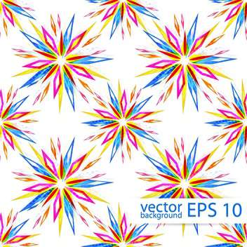Vector seamless colorful floral pattern background - Free vector #129380