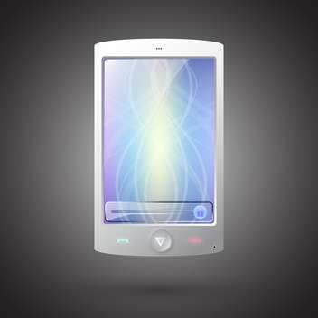 Vector illustration of modern touch phone on dark background - Free vector #129420