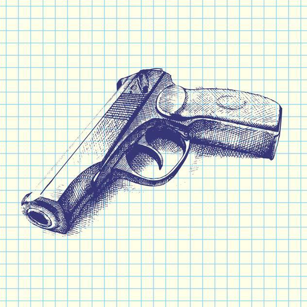 Descargar Vector Ilustración De Vector De Mano Pistola Dibujada ...