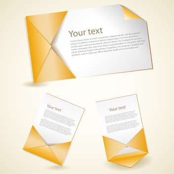 Vector set of yellow envelopes on light background - vector gratuit #129510