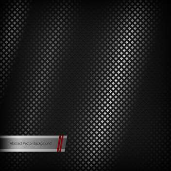 Abstract black metal vector background. - vector #129600 gratis
