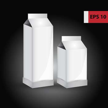 Vector blank paper milk product containers on black background - бесплатный vector #129610