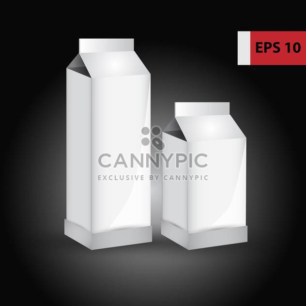 Vector blank paper milk product containers on black background - Kostenloses vector #129610