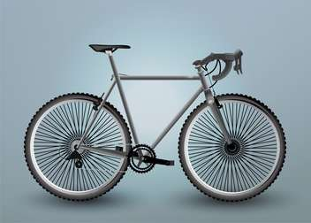 Vector illustration of bicycle on blue background - vector gratuit #129720