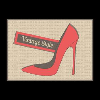 Vector illustration of fashion vintage red female high heel shoe - vector gratuit #129780