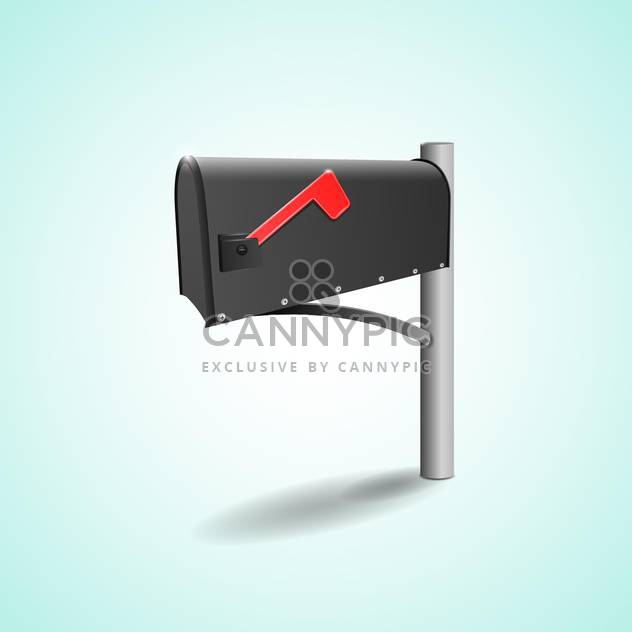 Vector illustration of mailbox with flag on green background - Free vector #129850