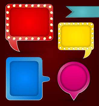 Colorful banners and speech bubbles - vector gratuit #129970