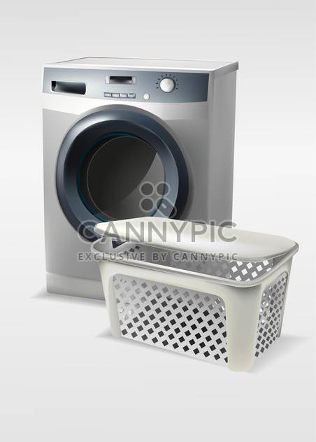 Vector illustration of washing machine with basket isolated - Kostenloses vector #129990