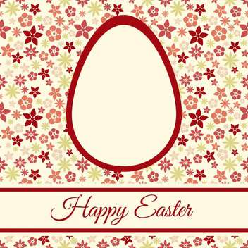 Easter greeting card with flowers and space for text - vector gratuit #130060