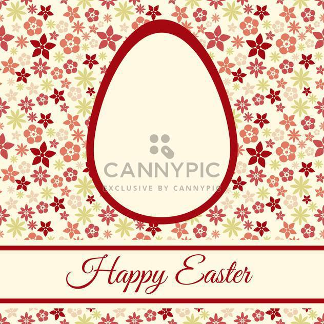 Easter greeting card with flowers and space for text - Free vector #130060