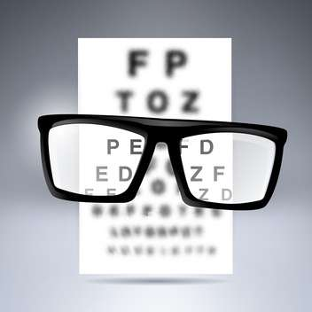 Vector test alphabet with glasses on grey background - vector gratuit #130080