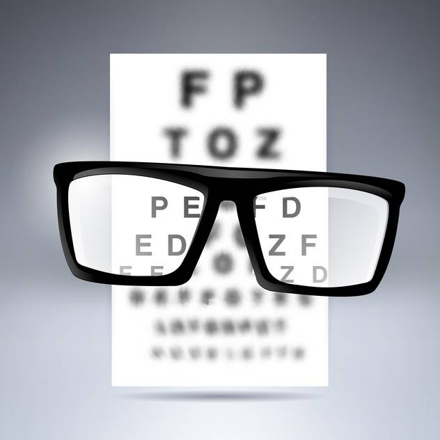 Vector test alphabet with glasses on grey background - vector #130080 gratis