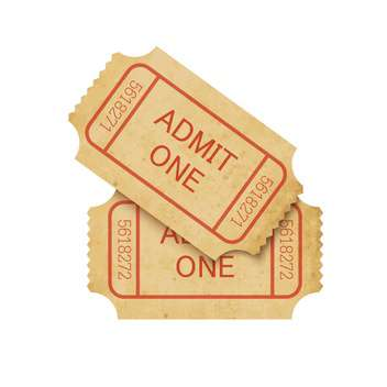 Vector illustration of two vintage cinema tickets - vector gratuit #130090