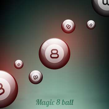 Dark vector background with eight balls - vector gratuit #130100