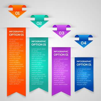 Colorful vector banners with numbers and arrows - vector #130120 gratis