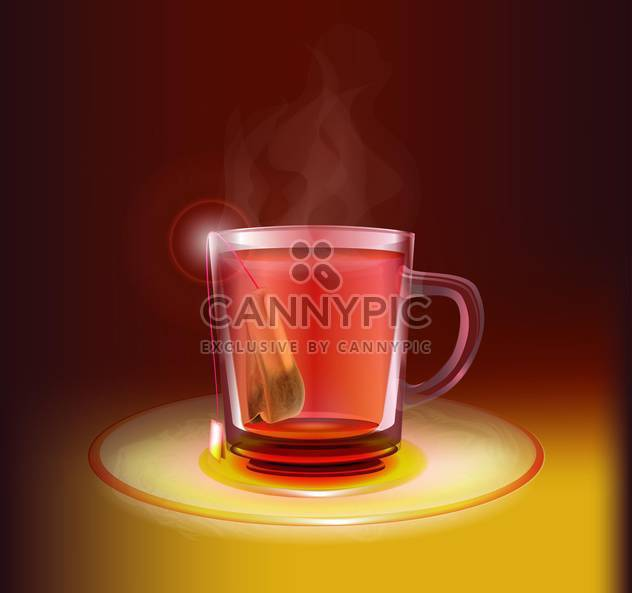 Vector illustration of tea cup - Free vector #130210