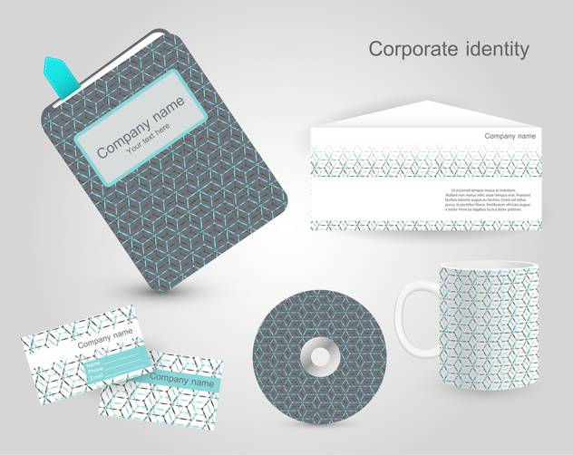 Set of corporate identity templates - бесплатный vector #130220