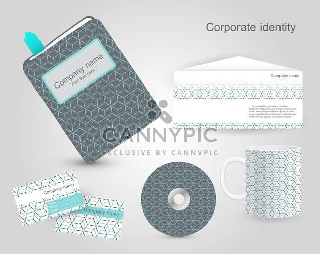 Set of corporate identity templates - Free vector #130220