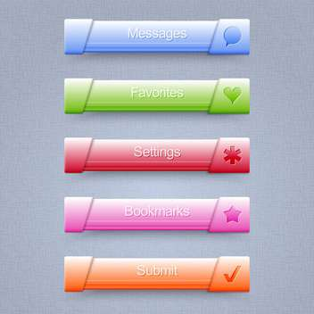vector set of web buttons - Free vector #130270