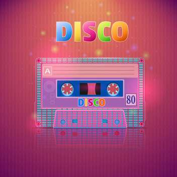 tape cassette with disco inscription - Kostenloses vector #130310