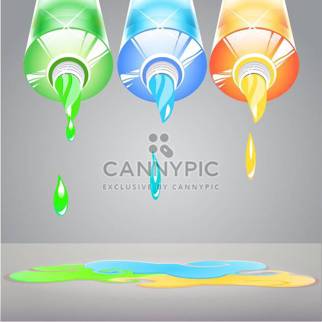 colorful paint tubes illustration - Free vector #130340