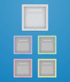 colored square banners set - vector gratuit #130350