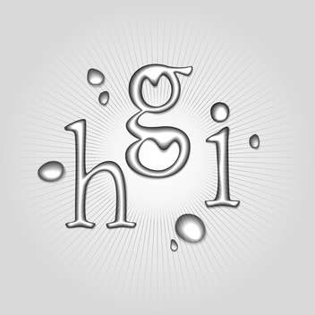 Vector water letters H, G, I - Free vector #130360