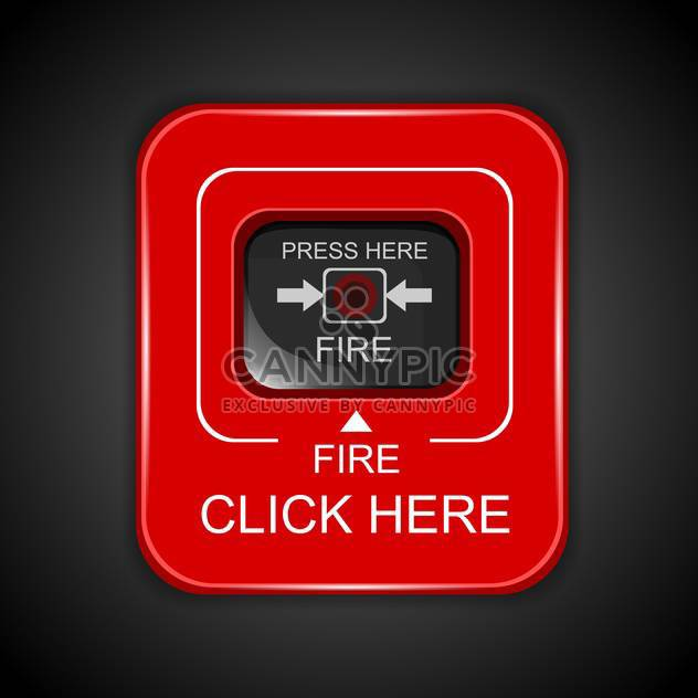 Red fire alarm icon - Free vector #130400