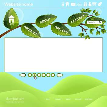 Vector Website Design Template - Kostenloses vector #130430