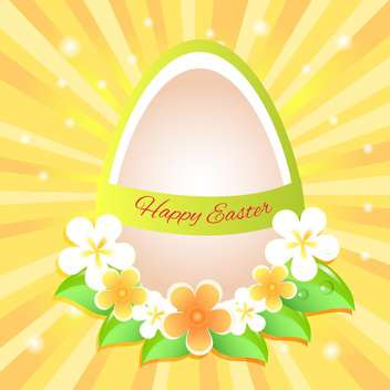 Happy Easter Greeting Card - vector gratuit #130560
