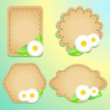 greeting cards with flowers and text place - vector #130570 gratis