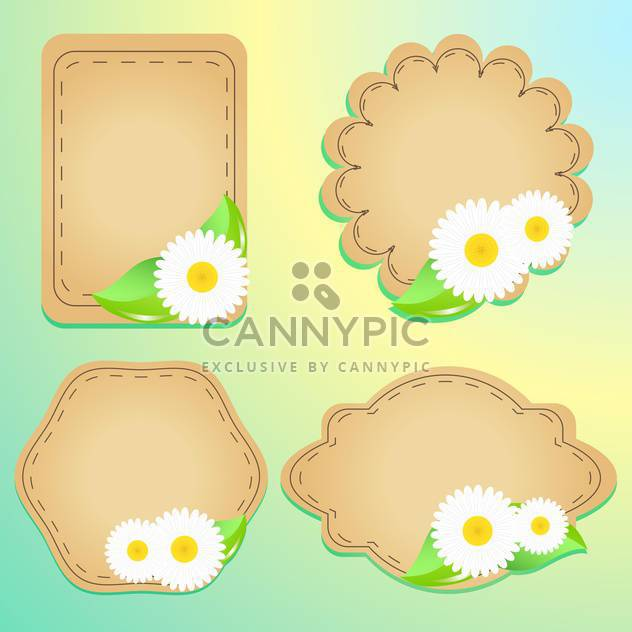 greeting cards with flowers and text place - Free vector #130570