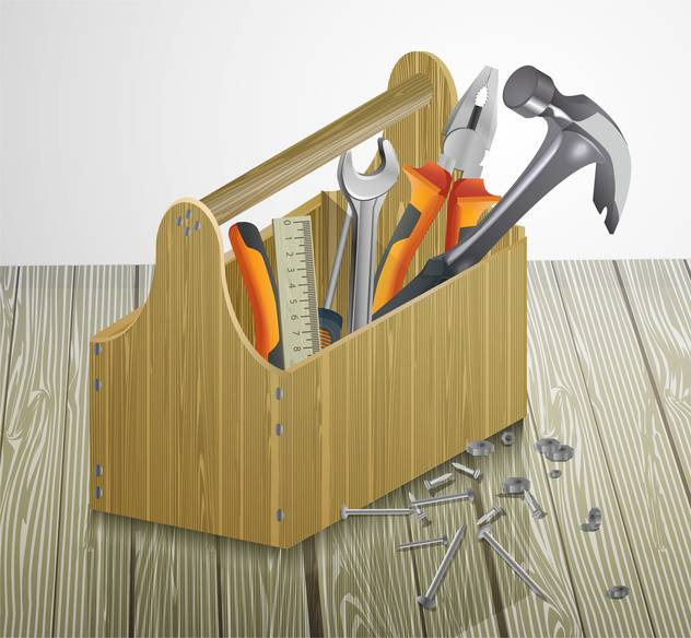 vector illustration of Toolbox with repair tools - Free vector #130590
