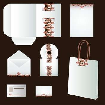 vector set of templates corporate identity on brown background - Free vector #130730
