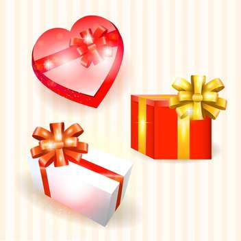 vector collection of colorful gift boxes - vector gratuit #130770