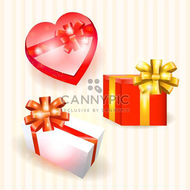 vector collection of colorful gift boxes - Free vector #130770