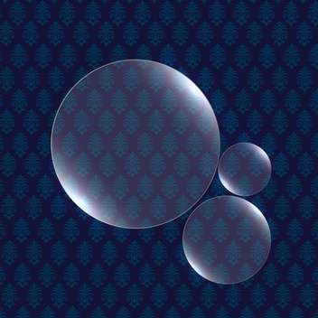 vector illustration of shiny round shaped bubbles on blue background - Free vector #130790