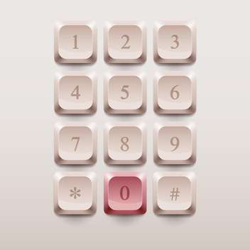 Phone buttons calling set vector illustration - vector #130860 gratis
